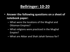 Bellringer: 10-20 Answer the following questions on a sheet of notebook paper: