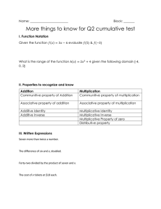 More things to know for Q2 cumulative test