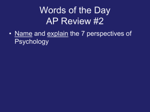 Words of the Day AP Review #2 Psychology