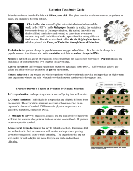 evolution and classification test study guide Evolution test study guide scientists estimate that the earth is 46 billion years old this gives time for evolution to occur, organisms to adapt, and species to become extinct.