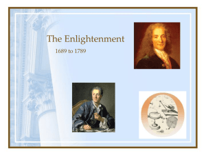 The Enlightenment 1689 to 1789