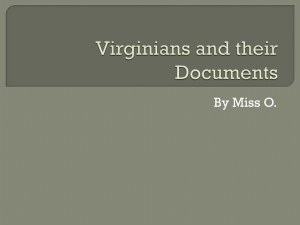 Virginians and Important Documents