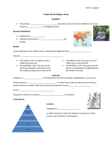 WHII 2a; page 8  5 Major World Religions Notes