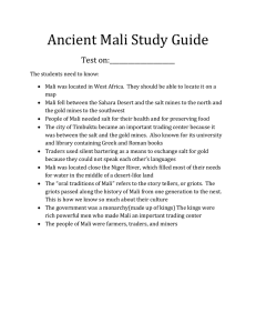 Ancient Mali Study Guide Test on:_____________________