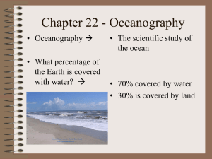 Chapter 22 - Oceanography