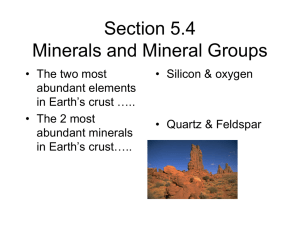Section 5.4 Minerals and Mineral Groups