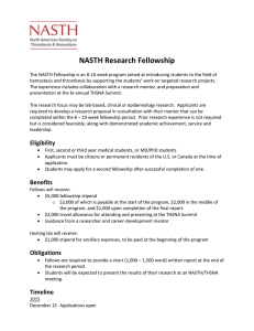 NASTH Research Fellowship
