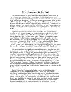 Great Depression & New Deal
