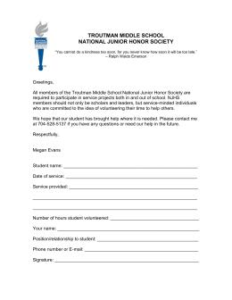 National honor society application ii