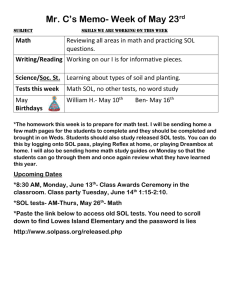 Mr. C's Memo- Week of May 23  Math Writing/Reading