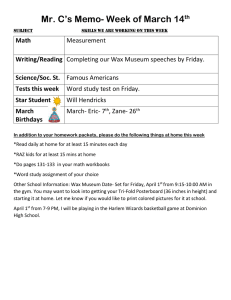 Mr. C's Memo- Week of March 14  Math Writing/Reading