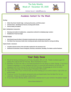 The Daly Weekly Week of:  November 30, 2015