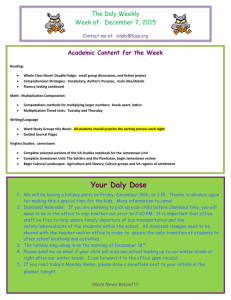 The Daly Weekly Week of:  December 7, 2015