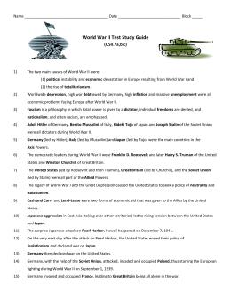 World war ii study guide by nick buchholz | teachers pay teachers.