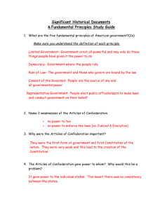 Significant Historical Documents Fundamental Principles Study Guide &