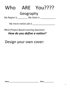 Who     ARE    You???? Geography