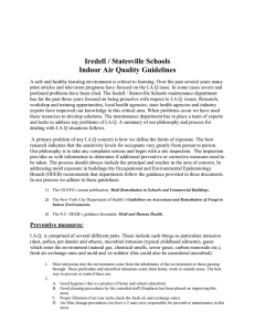 Iredell / Statesville Schools Indoor Air Quality Guidelines