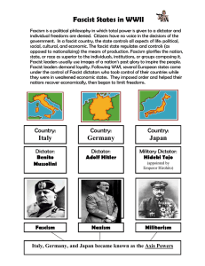 Fascist States in WWII
