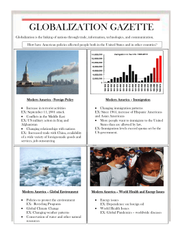 GLOBALIZATION GAZETTE