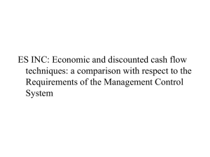 ES INC: Economic and discounted cash flow