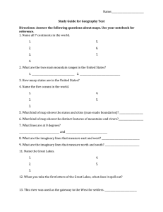 Name:___________________________ Study Guide for Geography Test