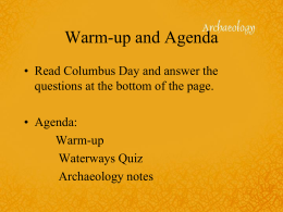 Warm-up and Agenda