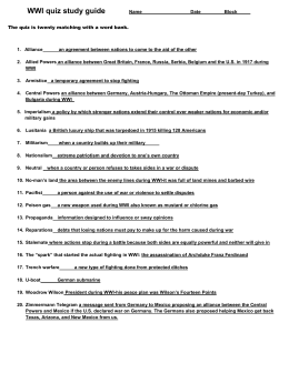 world war i essay test questions Wwii possible essay questions the essay questions below are all possible essays for your wwii test on the day of the test, 3 of the  the second world war had .