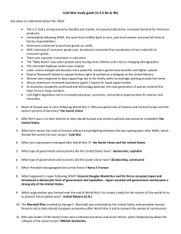 name page cold war study guide rh studylib net cold war review guide cold war review guide