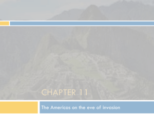 CHAPTER 11 The Americas on the eve of invasion