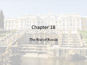 Chapter 18 The Rise of Russia