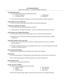 Gigantic EHAP Midterm Study Guide - Historyteacher.net