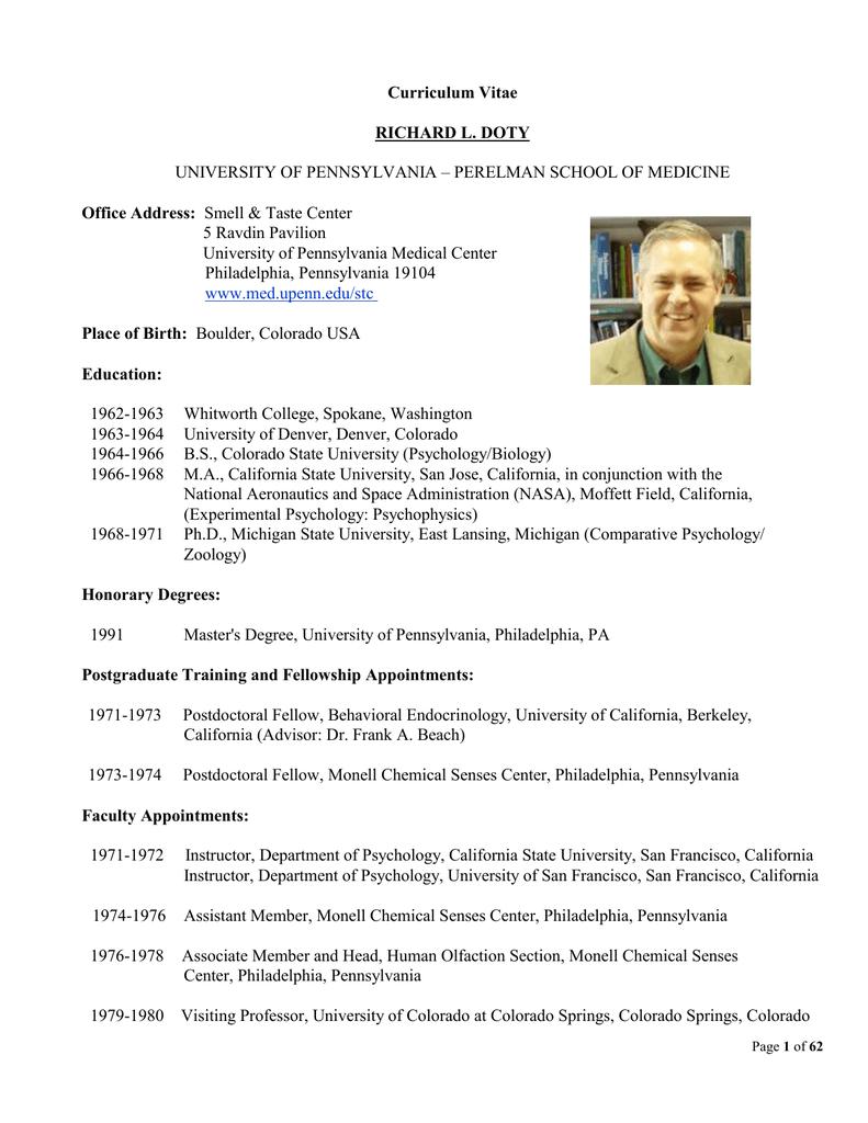 Curriculum Vitae RICHARD L. DOTY Office Address:
