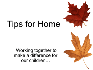 Tips for Home Working together to make a difference for our children…