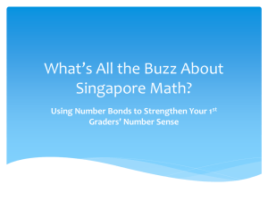 What's All the Buzz About Singapore Math? Graders' Number Sense
