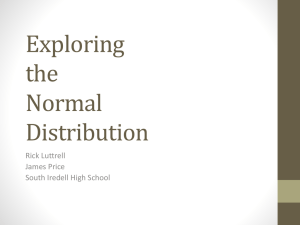 Exploring the Normal Distribution
