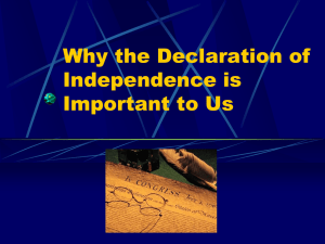 Why the Declaration of Independence is Important to Us
