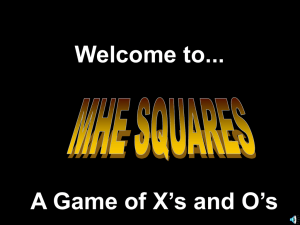 Welcome to... A Game of X's and O's