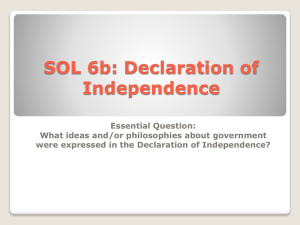 SOL 6b: Declaration of Independence