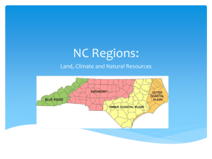NC Regions: Land, Climate and Natural Resources