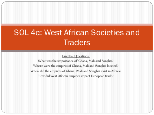 SOL 4c: West African Societies and Traders
