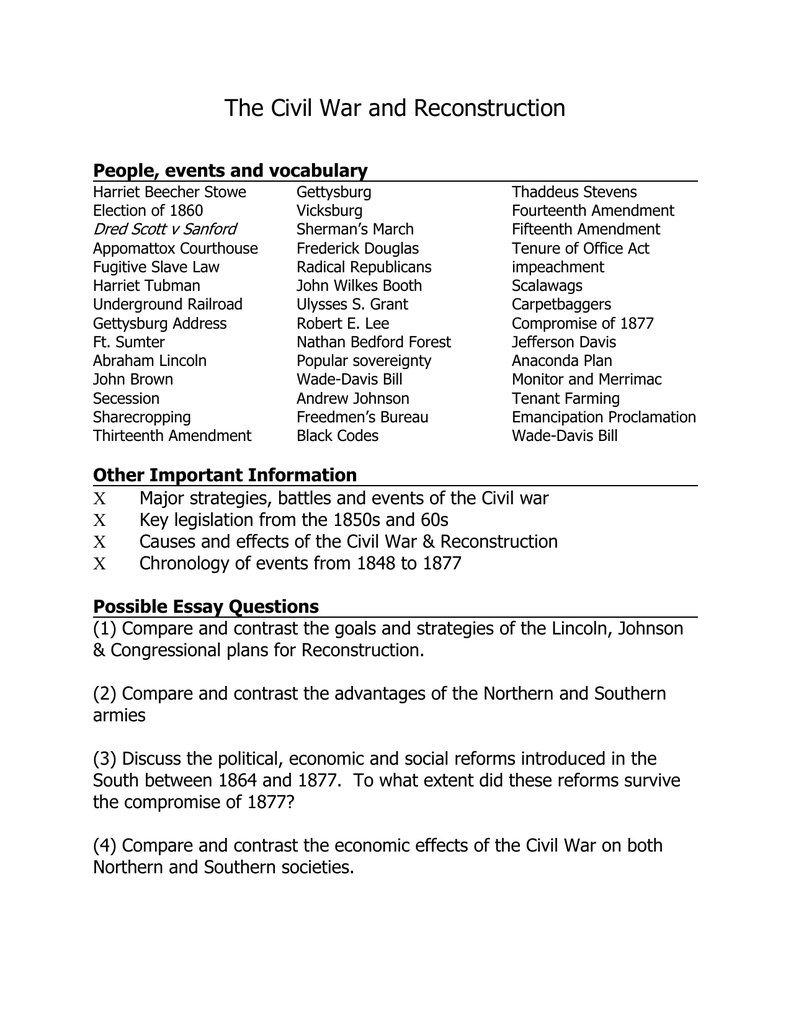 Sample of Discussion & Essay Questions