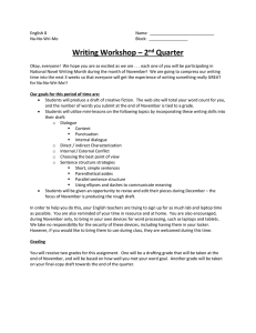 Writing Workshop – 2 Quarter nd