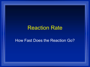 Reaction Rate How Fast Does the Reaction Go?