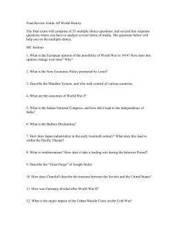 ap world history 2011 exam q2 Exam overview the ap world history exam measures students' knowledge of  world history and their ability to think historically  sample responses q2 leq.