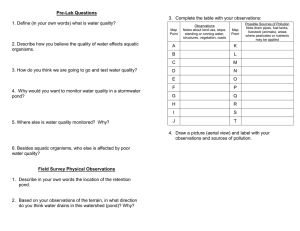 Pre-Lab Questions  3.  Complete the table with your observations: