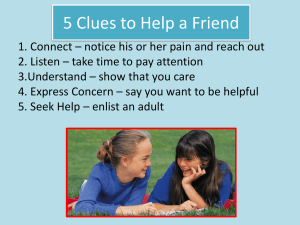 5 Clues to Help a Friend