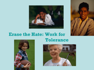 Erase the Hate: Work for Tolerance