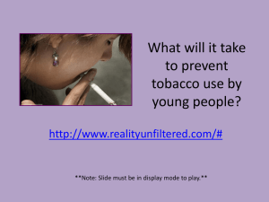 What will it take to prevent tobacco use by young people?