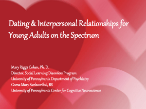 Dating & Interpersonal Relationships for Young Adults on the Spectrum