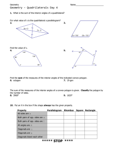 Geometry – Quadrilaterals Day 4